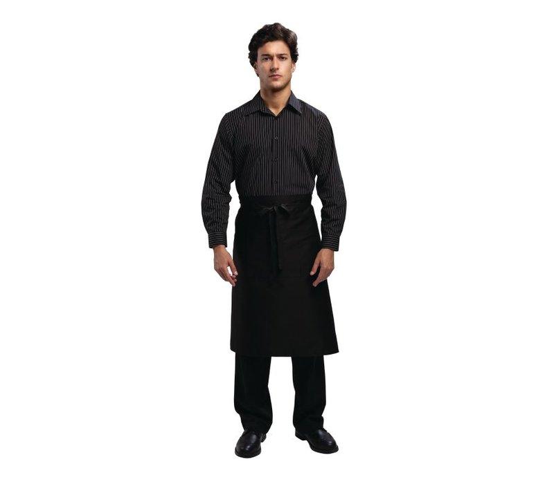 XXLselect Uniform Works krijtstreep lange mouwen polyester-katoen Shirt - Beschikbaar in 4 maten