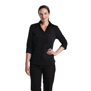 XXLselect Uniform Works Stretch Shirt - Zwart - Beschikbaar in vijf maten - Dames