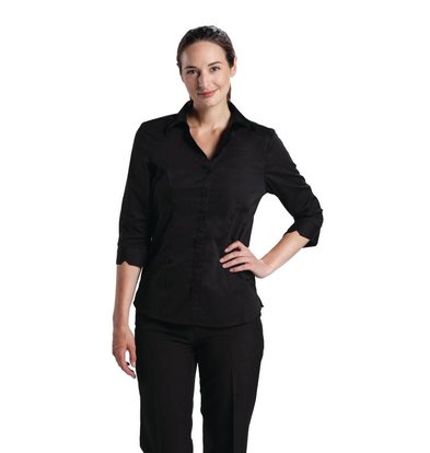 Chef Works Uniform Works Stretch Shirt - Zwart - Beschikbaar in vijf maten - Dames