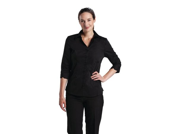 XXLselect Uniform Works Stretch Shirt - Black - Available in five sizes - Ladies