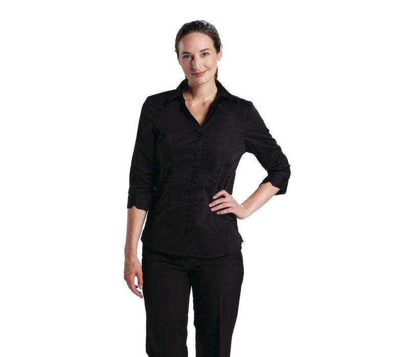 XXLselect Uniform Works Stretch Shirt - Zwart - Beschikbaar in vijf maten - Dames