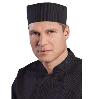 XXLselect Chef Works pinstripe Coolvent Beanie - Black - One Size - Unisex