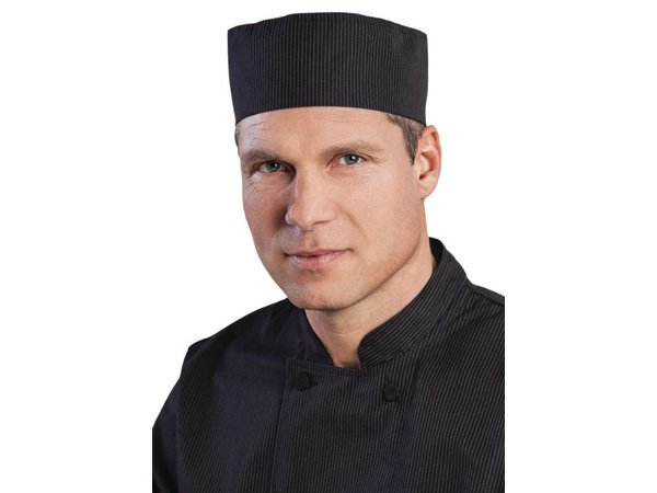 XXLselect Chefworks krijtstreep Cool Vent Beanie - Zwart - Universele maat - Unisex