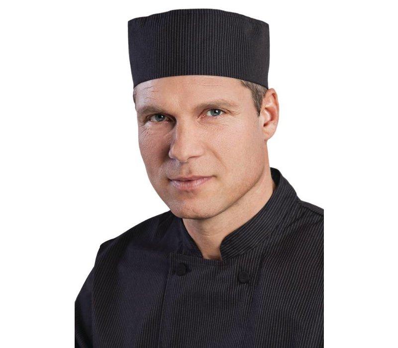 XXLselect Chef Works Nadelstreifen CoolVent Beanie - Schwarz - One Size - Unisex