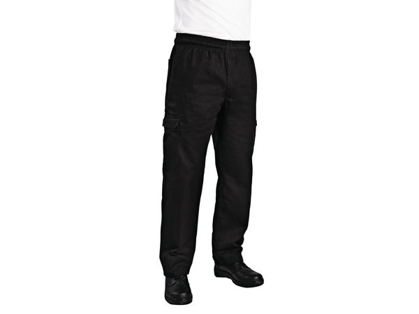 XXLselect Chef Works Slim Fit Cargo Pants - Available in 6 sizes - Unisex - Black