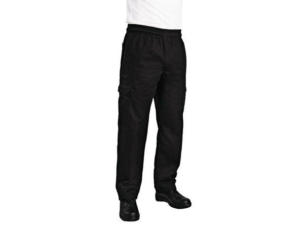 XXLselect Chef Works Slim Fit Cargohose - Erhältlich in 6 Größen - Unisex - Schwarz