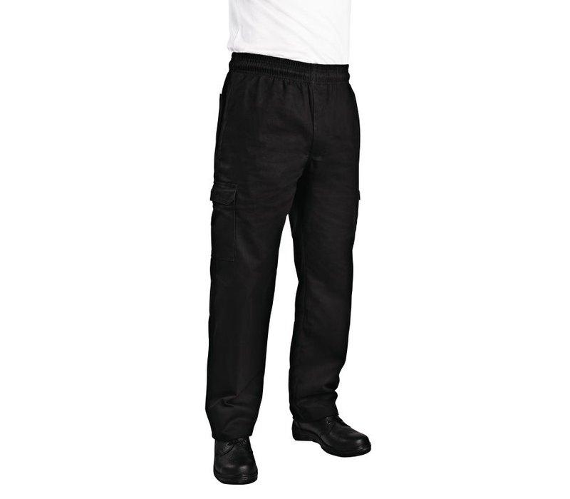 XXLselect Chefworks Slim Fit Cargo broek - Beschikbaar in 6 maten - Unisex - Zwart