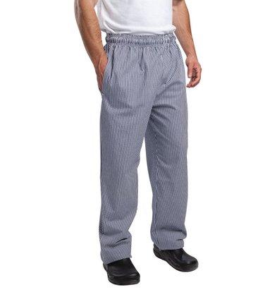 XXLselect Vegas Chefs Hosen blau / weiß kariert - Polyester-Baumwolle - Erhältlich in 6 Größen - Unisex - POPULAR!