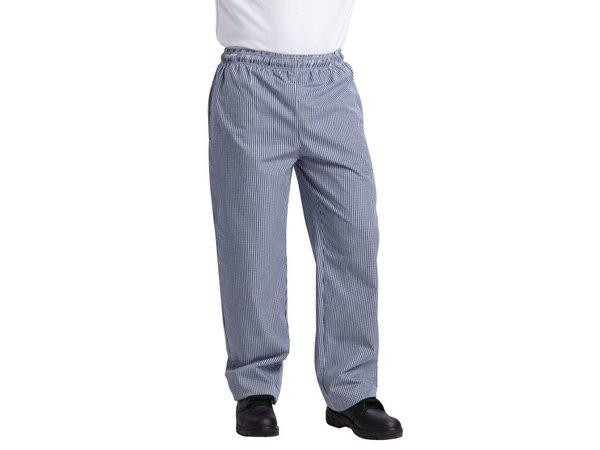 XXLselect Vegas Chefs Hosen Blue / White Checkered - Polyester-Baumwolle - Erhältlich in 6 Größen - Unisex - POPULAR!