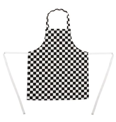 XXLselect Kids Apron - Black / white checkered - Unisex