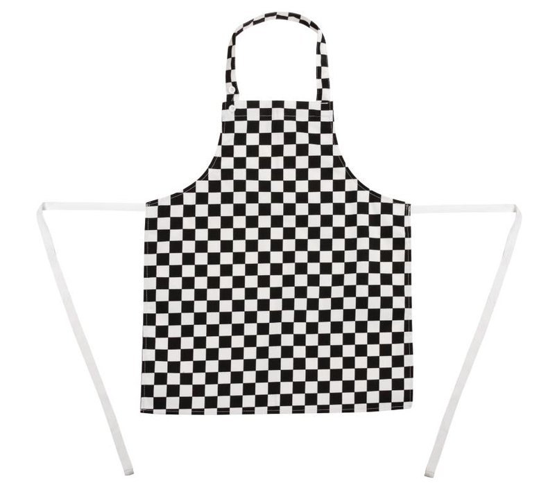 XXLselect Kids Apron - Black / white checkered - Unisex