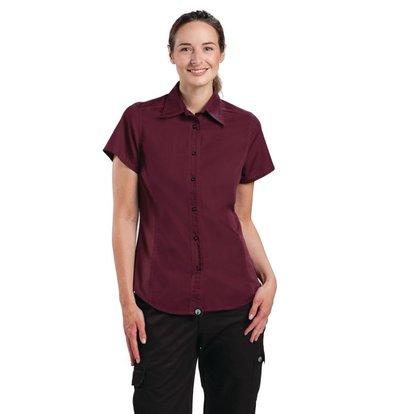 XXLselect Chef Works CoolVent Chef Shirt - Merlot - Erhältlich in vier Größen - Frauen