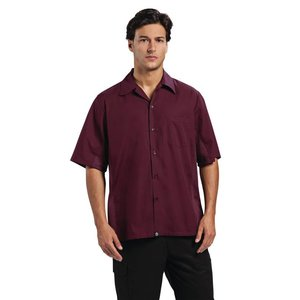 XXLselect Chef Works - Cool Vent Chef Shirt - Merlot - Available in 4 sizes - Men