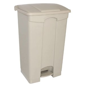 XXLselect Jantex pedaal afvalbakken 65L beige