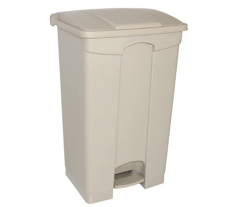 XXLselect Jantex pedaal afvalbakken 87L beige