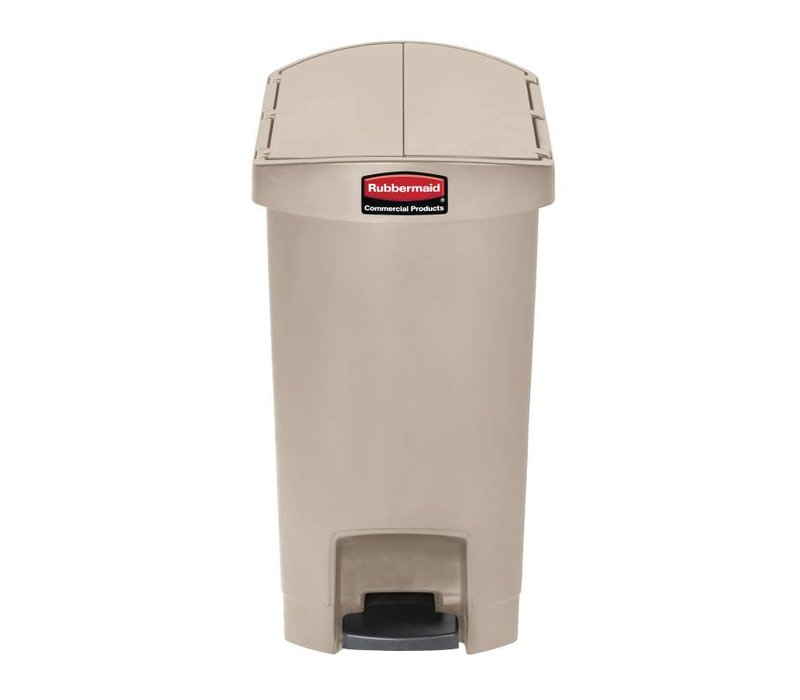 XXLselect Rubbermaid trash bin smart step on the end of pedal 30L - Different colors - 311x497x (H) 566mm