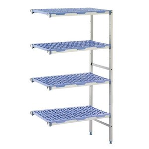 XXLselect Modular stock shelves 4 shelves, corner unit, 400 Deep - 6 Sizes Available