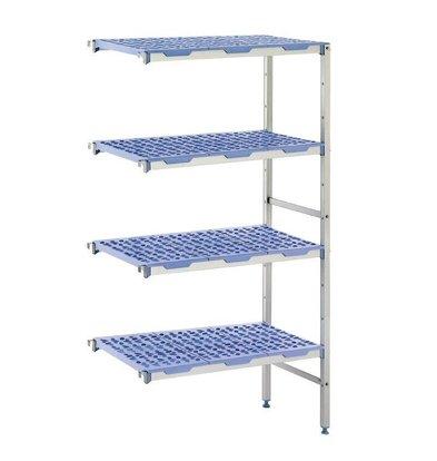 XXLselect Modular stock shelves 4 shelves, corner unit, 400 Deep - 6 Sizes Available