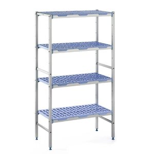 XXLselect Modular stock shelves 4 shelves, line-up, 400 Deep - 6 Sizes Available