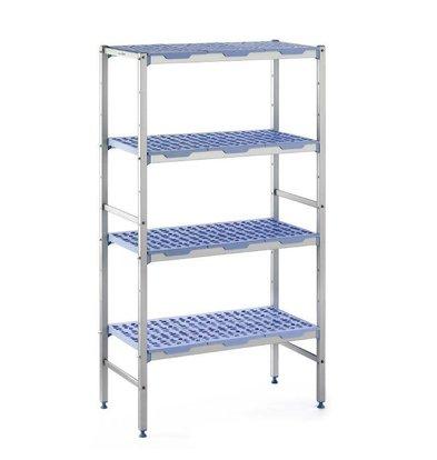 XXLselect Modular stock shelves 4 shelves, line-up, 400 Deep - 6 Sizes Available