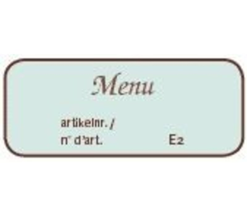 XXLselect Printing of Menus - Metallic GOLD - Total price up to 50 printing units.