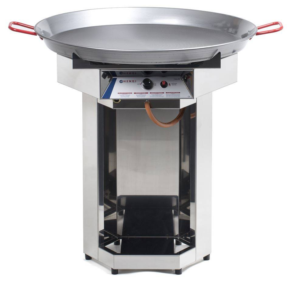hendi hendi fiesta gas barbecue bbq gas grill xxl 800mm diameter pan propane professional. Black Bedroom Furniture Sets. Home Design Ideas