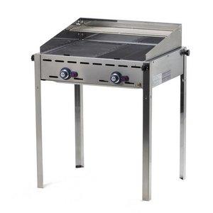 Hendi Hendi Green Fire Barbecue | 2 burners | BBQ Professional 740x612x (H) 825mm | WATCH VIDEO