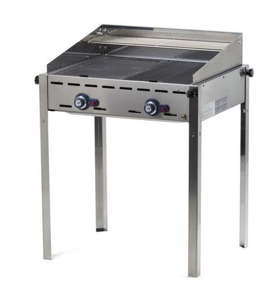 Hendi Hendi Greenfire Barbecue | 2 Gasbranders | BBQ Professioneel 740x612x(H)825mm | BEKIJK VIDEO