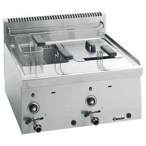 Bartscher Gas Fryer | 2x8 Liter | Series 600 | 13.4 kW | 600x600x (H) 290mm