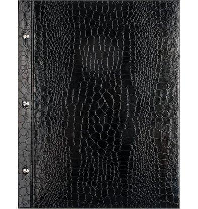 XXLselect Menu Library Croco - Black - Square Model