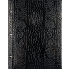 XXLselect Menu Library Croco - Black A4