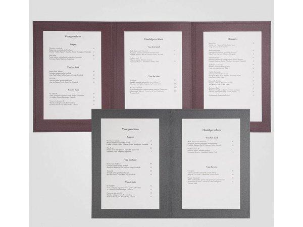 XXLselect Menu Panorama Triptych - Anthracite A4