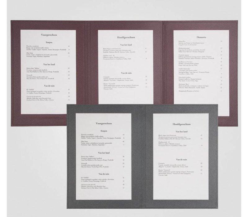 XXLselect Menu Panorama Triptychon - Anthrazit A4