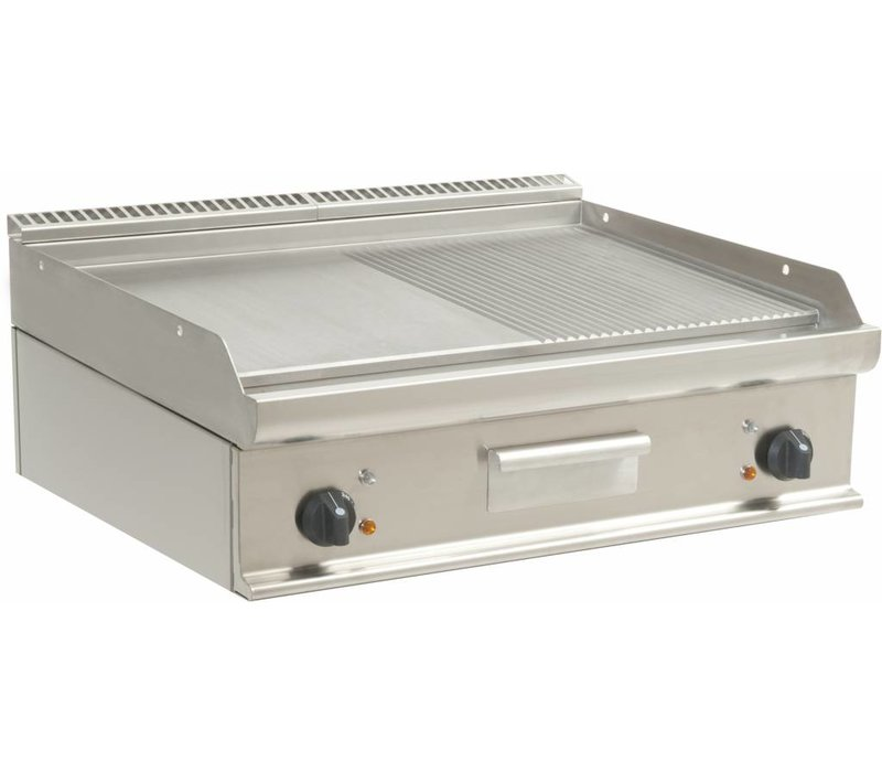 Saro Fry Top Electric Tabletop Casta - Glatte / Ribbed - 80x70x (h) 27 cm - 400 V / 10,8kW