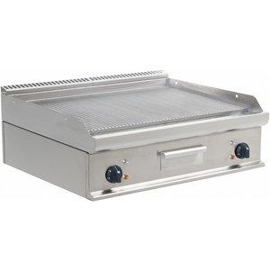 Saro Fry Top Electric Tabletop Casta - Gerippte - 80x70x (h) 27 cm - 400 V / 10,8kW