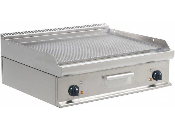 Saro Bakplaat Elektrisch Tafelmodel Casta - Geribd - 80x70x(h)27cm - 400V/10,8kW