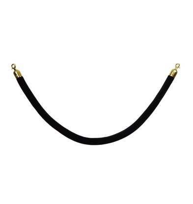 Saro Cord outlet for Barrier posts - 1.5 meters - Velour Black - Gold