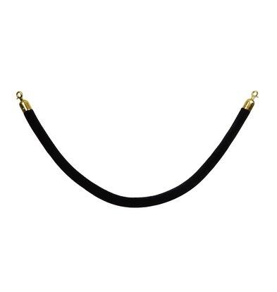 Saro Schnurauslass für den Sperrpfosten - 1,5 Meter - Velour schwarz - Gold