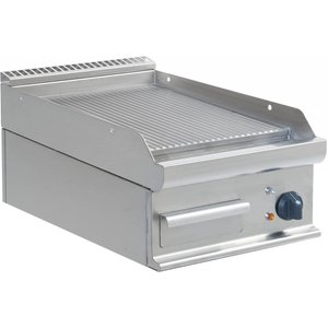 Saro Bakplaat Geribd Elektrisch Tafelmodel Casta - 40x70x(h)27cm - 400V/5,4kW