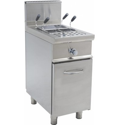 Saro Pasta Cooker Stainless steel | 28 Liter | Gas with Mount Casta - 11KW - 400x700x (H) 850mm