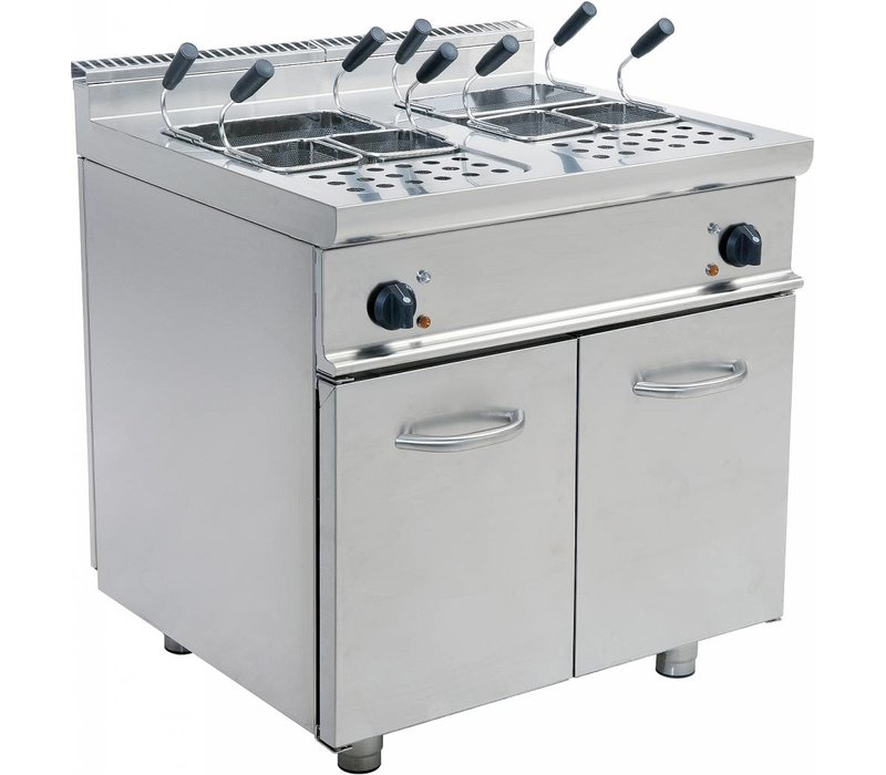 Saro Pasta Cooker Electric + 2x28 liter Mount Casta | Stainless steel | 400V | 14kW | 800x700x850mm