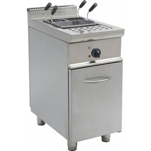 Saro Pasta Cooker Stainless steel | 28 Liter | Electrical | With Mount Casta | 400V | 7kW | 400x700x850mm