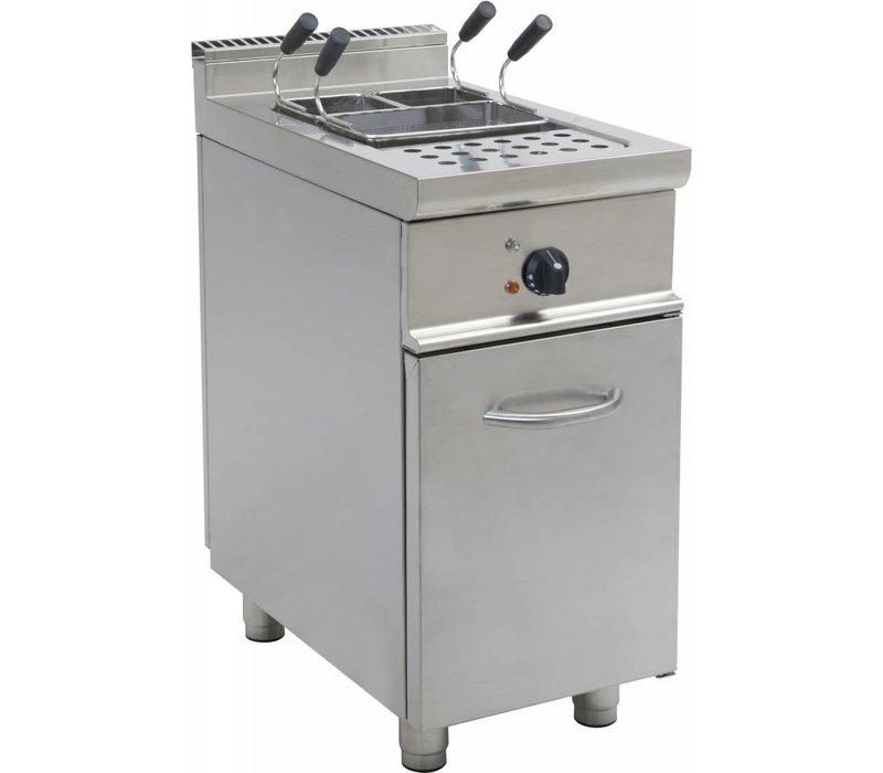 Saro Pastakoker RVS | 28 Liter | Elektrisch | Met Onderstel Casta | 400V | 7kW | 400x700x850mm