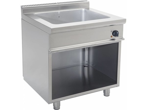 Saro Bain Marie | 2 / 1GN | Electrical | With Open Frame Casta | 3kW | 900x700x (H) 850mm