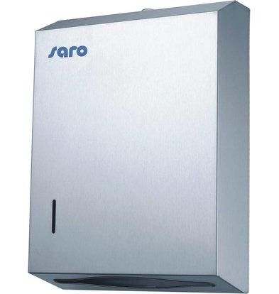 Saro Papierspender Edelstahl - 28x10x38cm