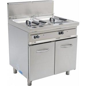 Saro Fryer Casta | Gas | 2x13 Liter | 22,4kW | Mit Berg | 80x70x (h) 85cm