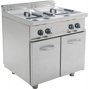 Saro fryer | Elektirsch | 2 x 17 liters | 400V | 33kW | With Mount Casta | 800x700x (H) 850mm