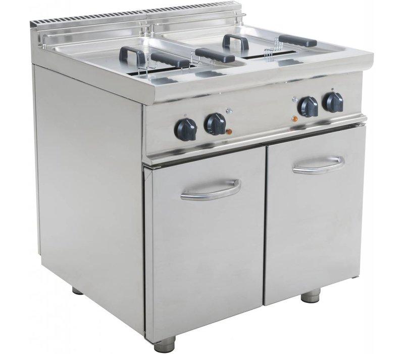 Saro fryer | Elektirsch | 2 x 17 liters | 400V | 33kW | With Mount Casta | 800x700x (H) 850mm