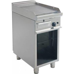 Saro Gas Grillplatte Ribbed Open Frame Casta - 40x70x (H) 85cm - 6 kW