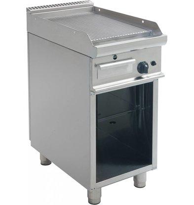 Saro Bakplaat Geribd Gas Open Onderstel Casta - 40x70x85(H)cm - 6KW